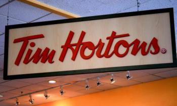 A Tim Horton's Sign