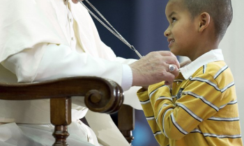 Pope Francis and wandering boy