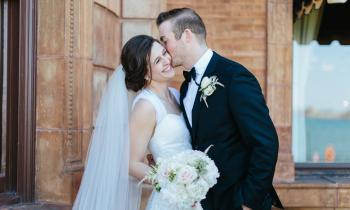 Beautiful Catholic newlywed couple