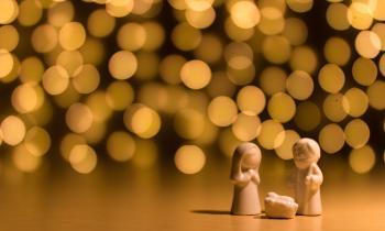 Nativity image with Joseph, Mary and Jesus