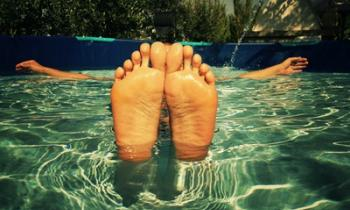 Picture of feet in a pool