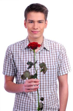 Gentleman with a red rose
