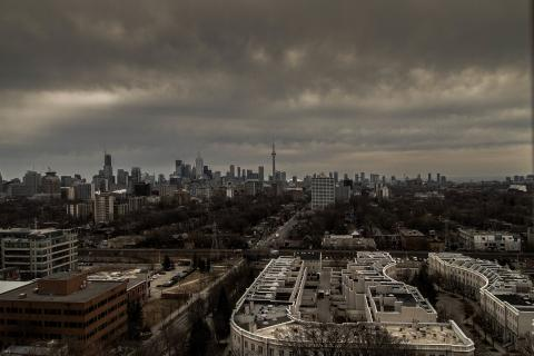 Stormy day in Toronto